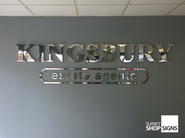 3d polished chrome stainless steel shop sign letters for D sign shop
