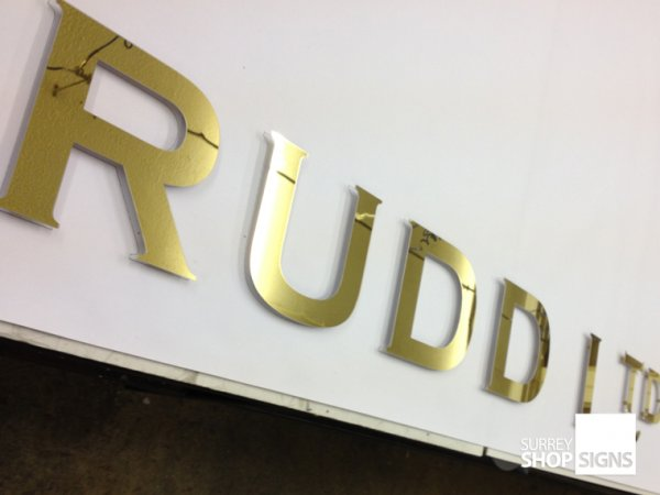 Raised Metal Letters Metal Letters For Your Business Or Organisation  Surrey Shop Signs