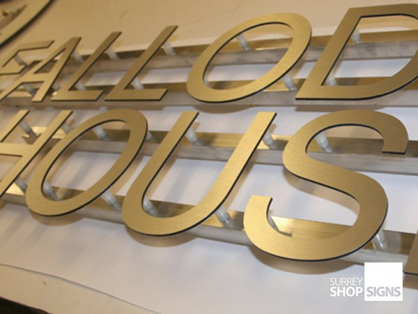 Aluminium Composite Shop Letters Surrey Shop Signs
