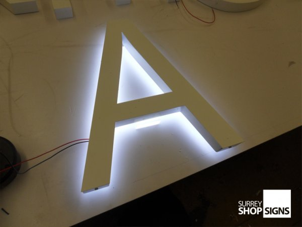 Painted 3D Metal Letters With LED Lights