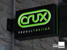 Crux hanging sign