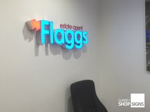 Flaggs built up letters