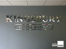 Kingsbury polished 3D Chrome letters GALLERY