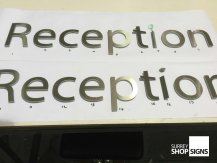 Reception flat cut letters