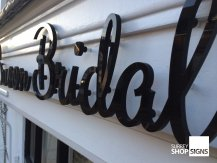 Swoon Bridal flat letters