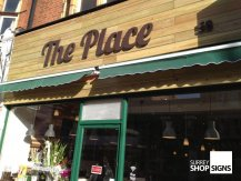 The Place flat letters
