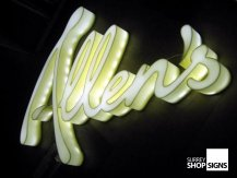 allens acrylic built up letters