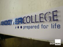 andover college1 flat letters