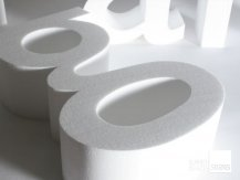 close up polystyrene letter g all letters