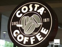 Costa Coffee Hanging Sign