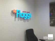flaggs office sign