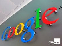google acrylic flat letters