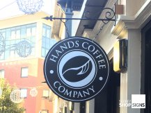 Hands Coffee Swing Sign