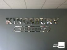 kingsbury 3d metal logo