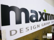maximm office sign