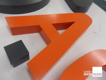 metal powder coated letter a