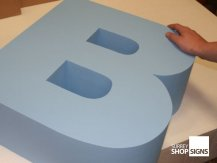 painted poly letter b all letters