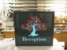 reception hanging signs