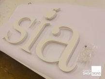 sia flat letters