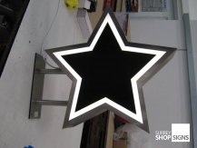 Star hanging sign