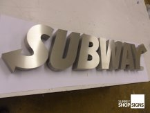 subway brushed 3d metal