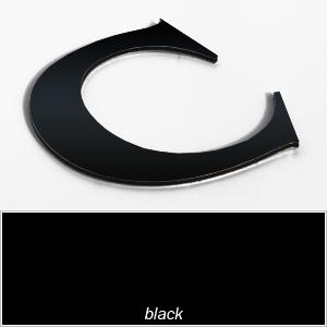 black aluminium composite shop letters