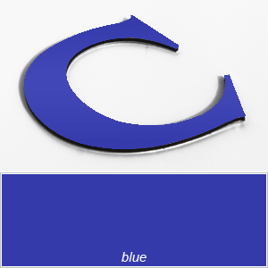 blue aluminium composite letters