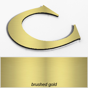 brushed gold aluminium composite shop letters
