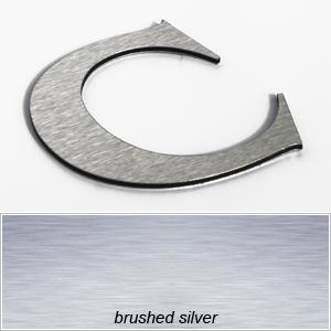 silver aluminium composite letters