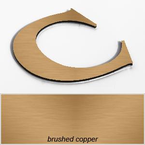 copper aluminium composite letters