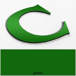green aluminium composite letters