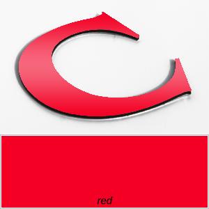 red aluminium composite letters