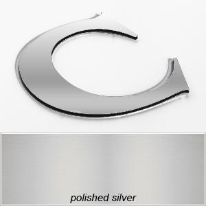 silver aluminium composite shop letters