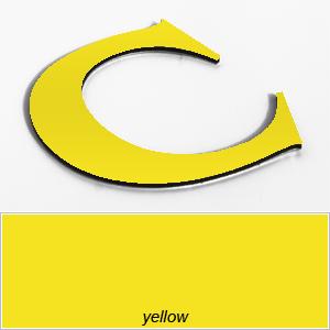 yellow aluminium composite letters