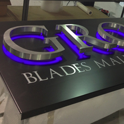 Aluminium Fascia with Raised Metal Letters