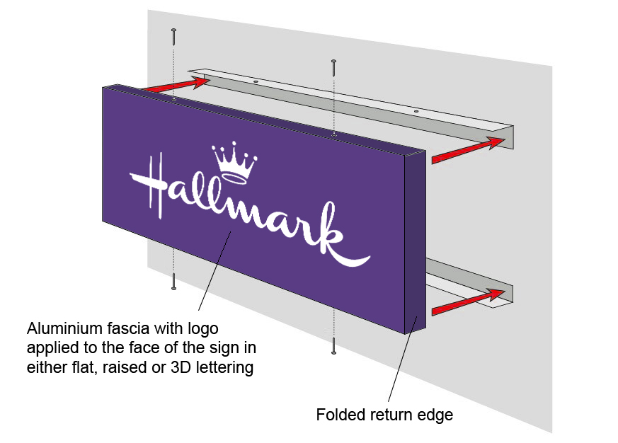 Aluminium Sign Tray Example