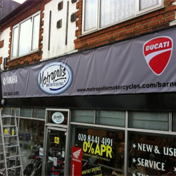 temporary shop sign banner