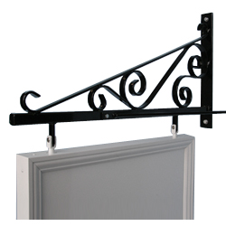 traditional swing sign wall bracket