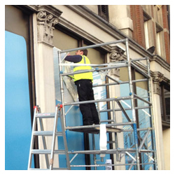 shop sign installation