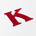 shop sign letter K