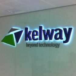 illuminated office sign