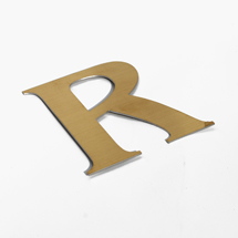 Brushed gold shop sign letters