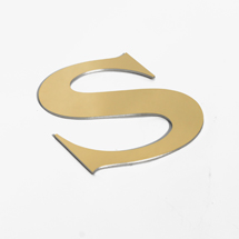 polished gold shop sign letters
