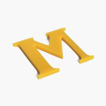 shop sign letter M