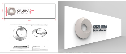 3D shop sign modelling design