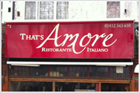 restaurant signs Walton on thames