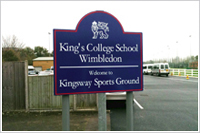 school signs Walton on thames