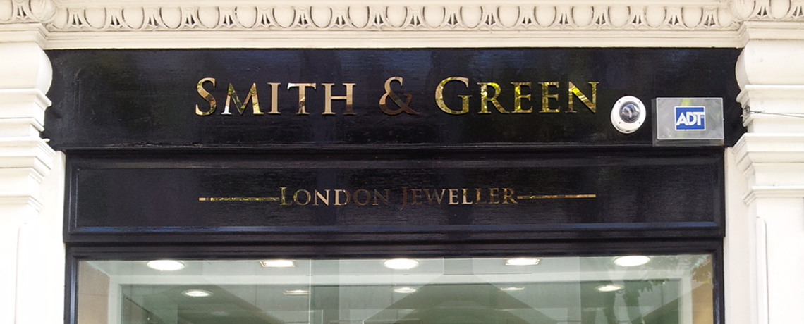 polished gold stainless steel shop letters