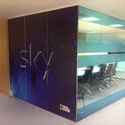 Digitally Printed Vinyl Graphics for Office Windows