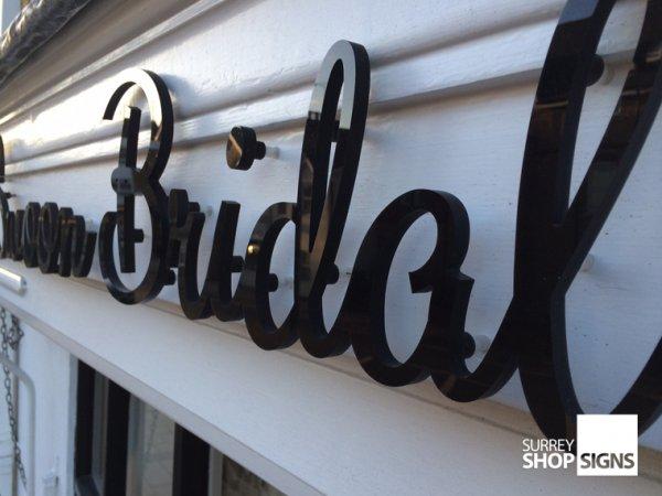 Acrylic Letters Amp 3d Acrylic Logos Surrey Shop Signs